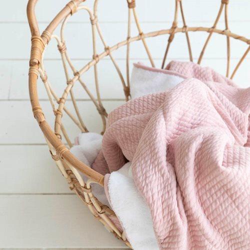 Couverture d'été pour lit bébé Pure Pink