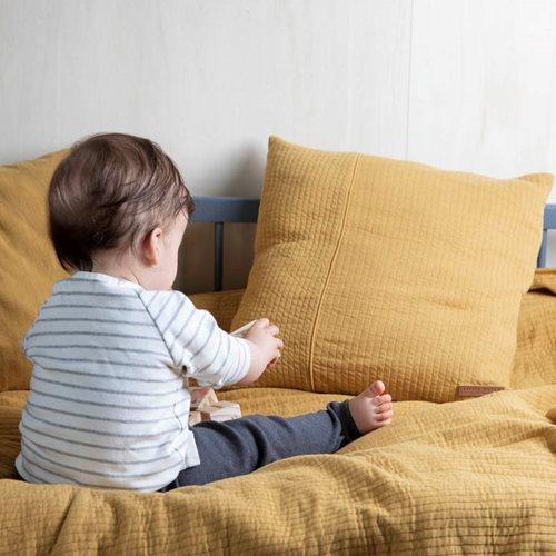 Sommerdecke Kinderbett Pure Ochre