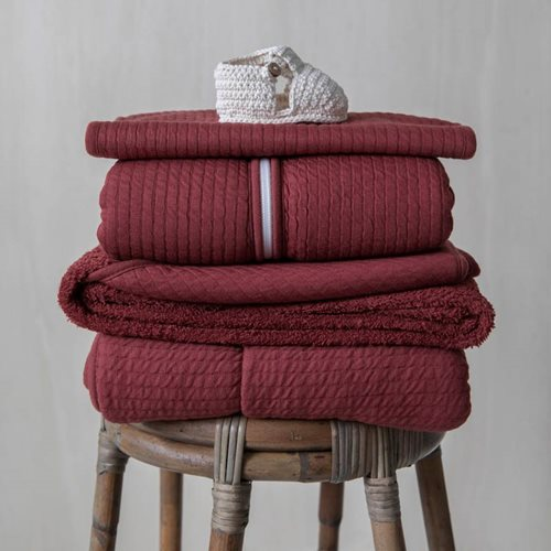 Picture of Cot summer blanket Pure Indian Red
