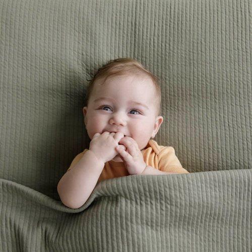 Couverture d'été pour lit bébé Pure Olive