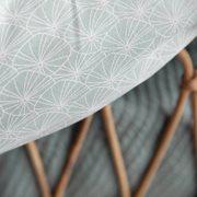 Couverture de lit bébé Lily Leaves Mint