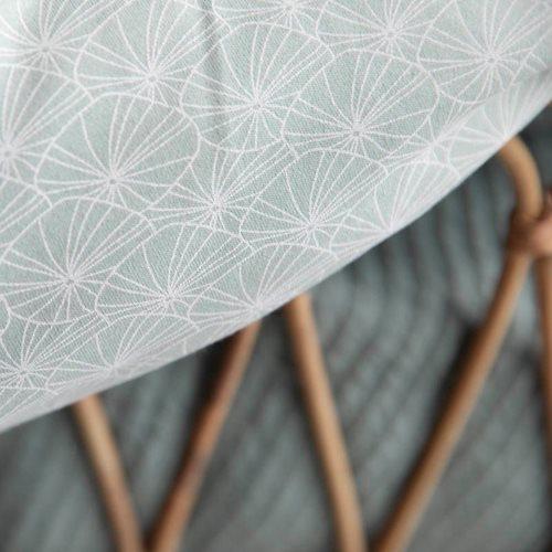 Couverture de berceau Lily Leaves Mint