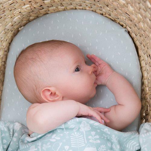 Afbeelding van Hoeslaken wieg Mint Sprinkles