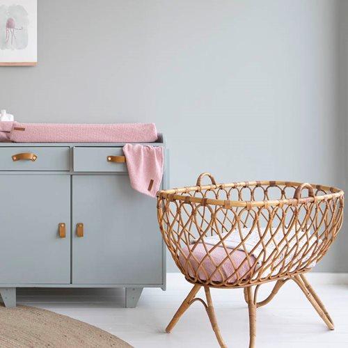 Afbeelding van Hoeslaken wieg Pure Pink