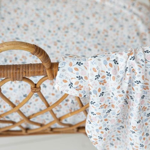 Picture of Fitted bassinet sheet Spring Flowers