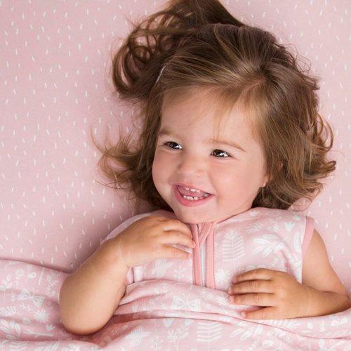 Afbeelding van Hoeslaken wieg Pink Sprinkles