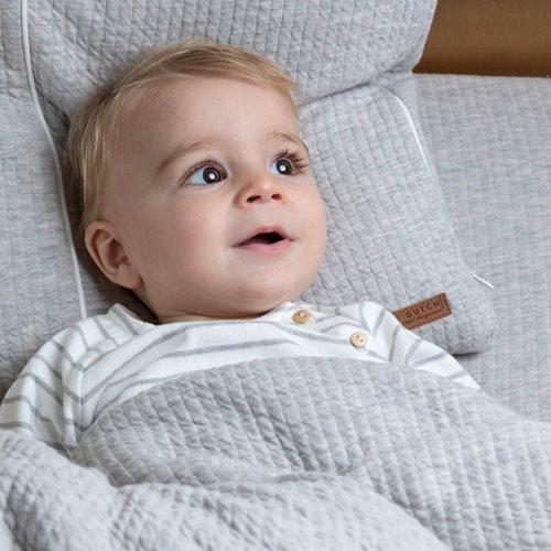 Drap-housse lit bébé Pure Grey