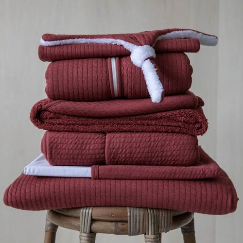 Picture of Fitted cot sheet Pure Indian Red