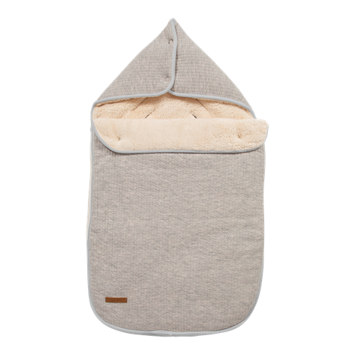 Babyschalen-Fußsack 0+ Pure Grey