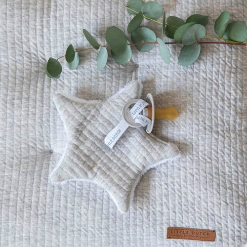 Doudou attache-sucette Pure Grey