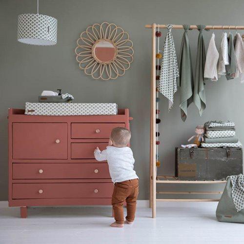 Lange bébé lot de 2 70 x 70 Pure Olive/rust