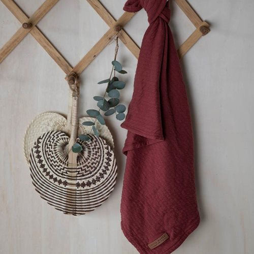 Maxi-lange swaddle 120 x 120 Pure Indian Red