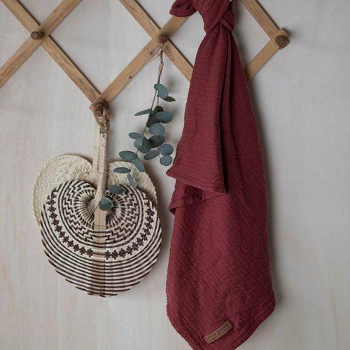 Afbeelding van Swaddle doek 120 x 120 Pure Indian Red