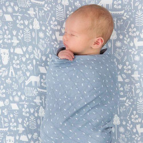 Lange bébé lot de 2 70 x 70 Adventure Blue