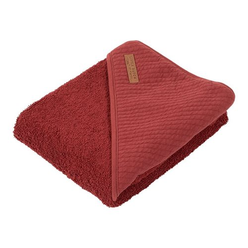 Picture of Hooded towel Pure Indian Red