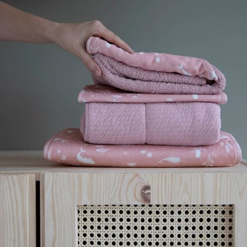Picture of Hooded towel Ocean Pink