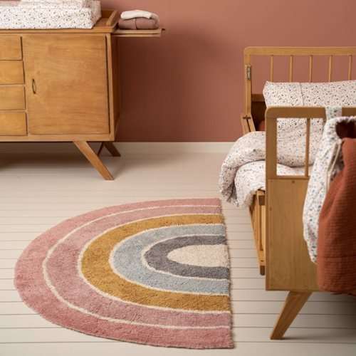 Picture of Rug Rainbow shape Pure Pink 80x130cm