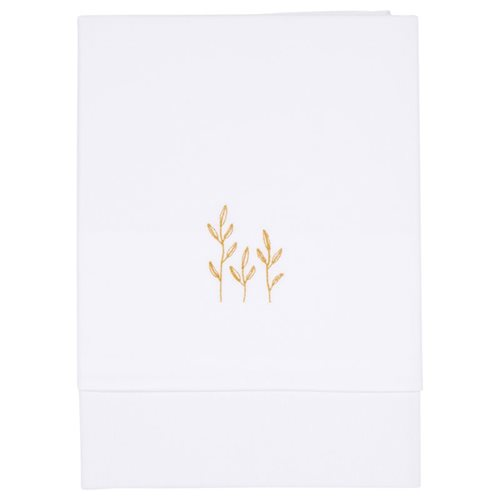Picture of Bassinet sheet Wild Flowers Ochre embroidered