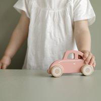 Afbeelding van Houten auto roze