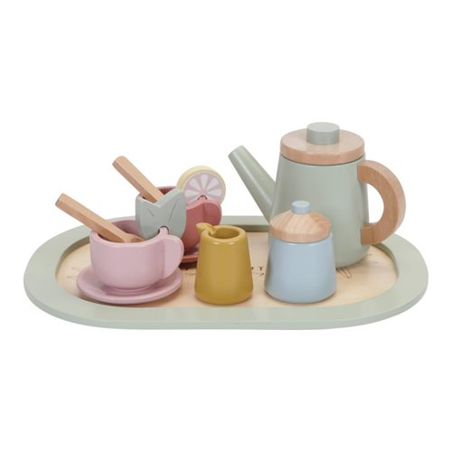 Picture of Wooden tea service set