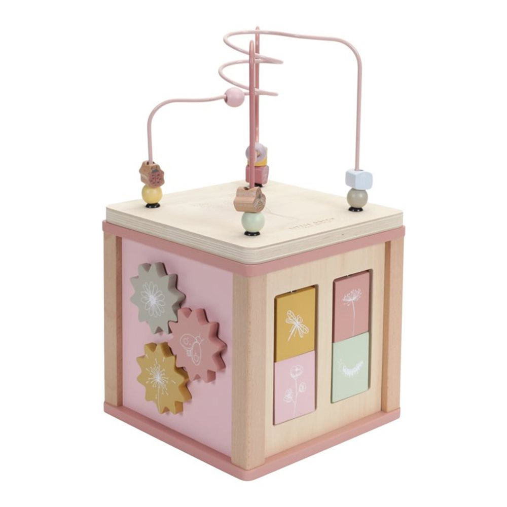 Picture of Wooden Activity Cube Wild Flowers