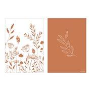 Afbeelding van Poster A3 - Wild flowers rust