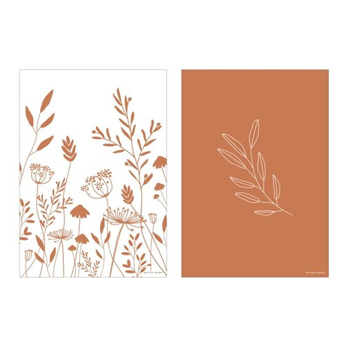 Picture of Poster A3 - Wild flowers rust