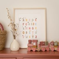 Picture of Poster A3 - Little Goose ABC - pink