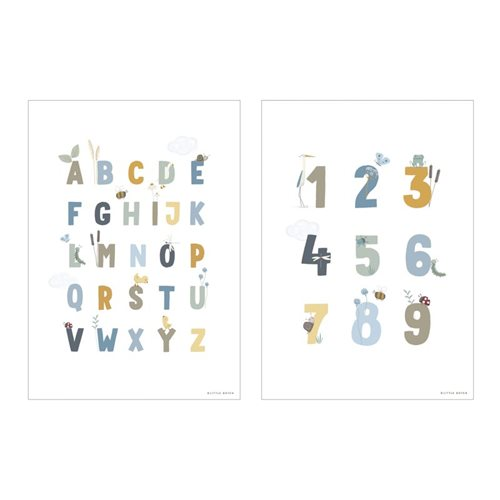 Picture of Poster A3 - Little Goose ABC - blue