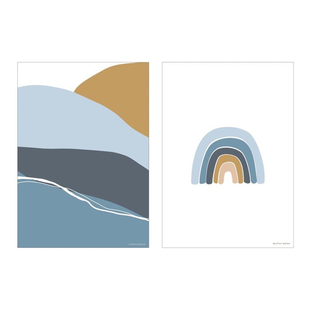 Poster A3 - Horizon - blue