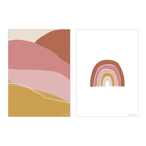Picture of Poster A3 - Horizon - pink