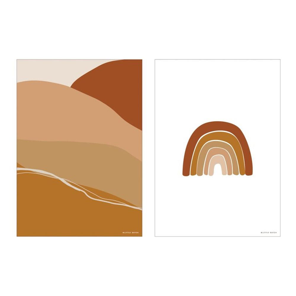 Picture of Poster A3 - Horizon - rust