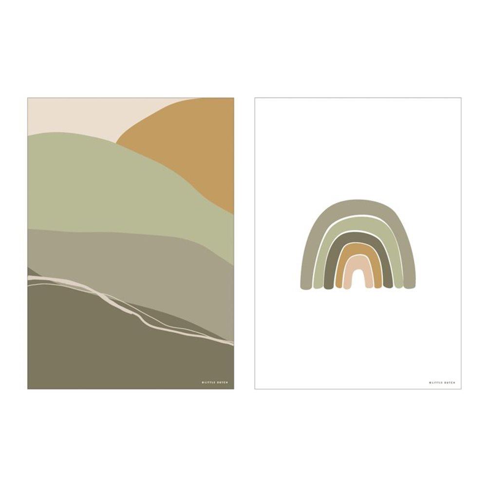 Afbeelding van Poster A3 - Horizon - olive