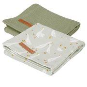 Langes Swaddles 70 x 70 Little Goose / Pure Olive