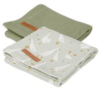 Musselintuch Swaddles 70 x 70 Little Goose / Pure Olive