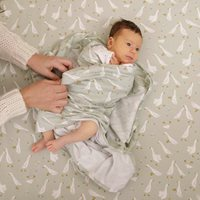 Musselintuch Swaddle 120 x 120 Little Goose / Pure Olive