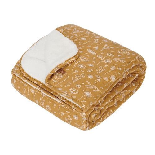 Picture of Bassinet blanket Wild Flowers Ochre