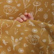 Afbeelding van Dekbedovertrek ledikant Wild Flowers Ochre