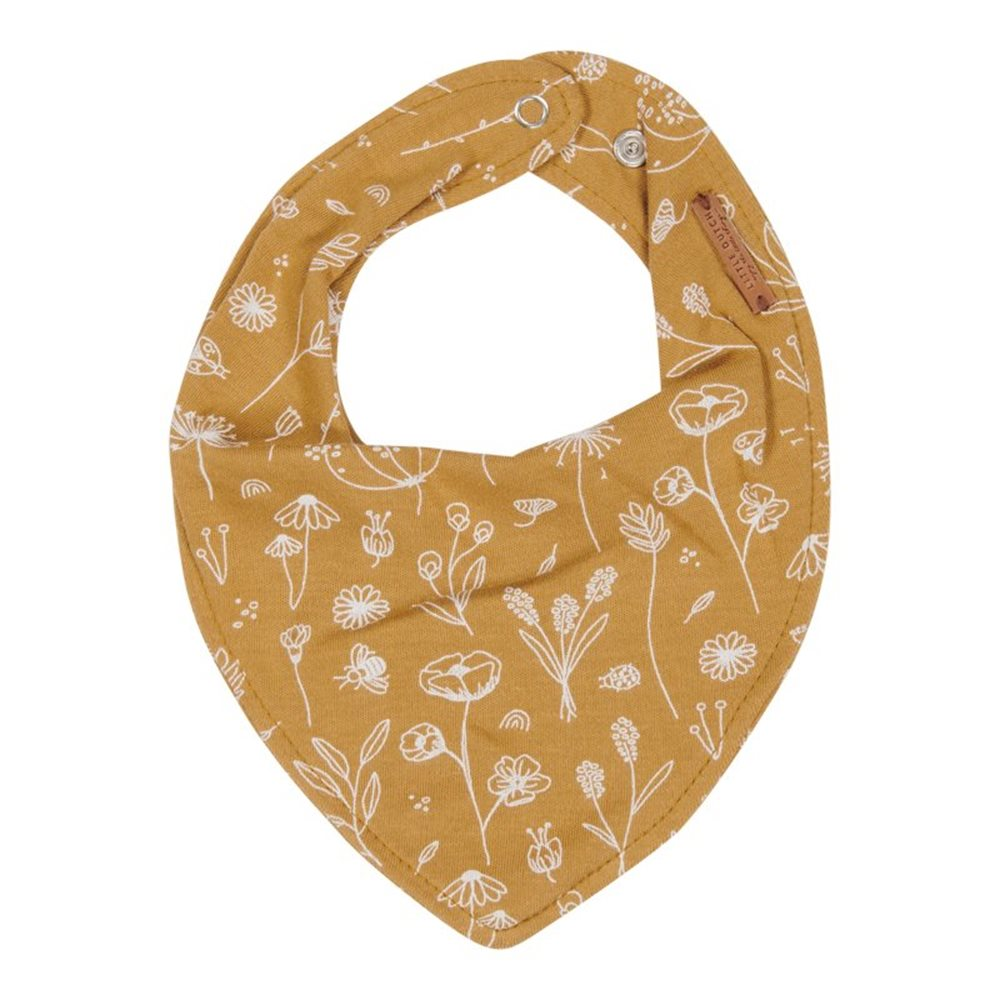 Picture of Bandana bib Wild Flowers Ochre
