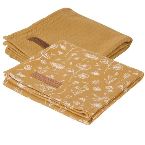 Picture of Swaddles 70 x 70 Wild Flowers Ochre / Pure Ochre