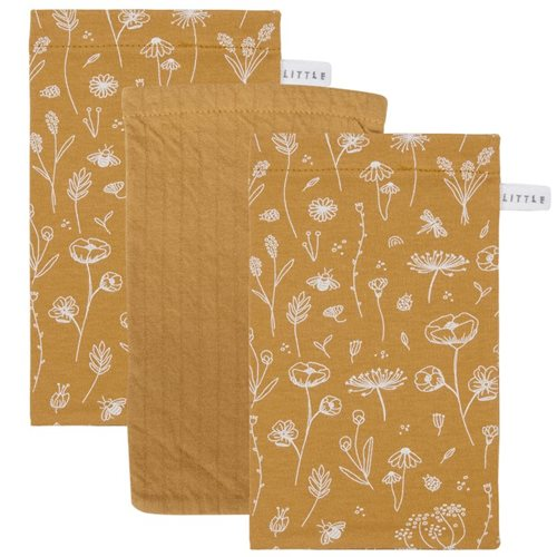 Picture of Washcloths set Wild Flowers Ochre