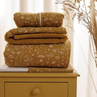 Picture of Hooded towel Wild Flowers Ochre