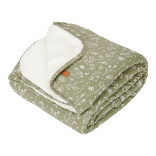 Picture of Cot blanket Wild Flowers Olive
