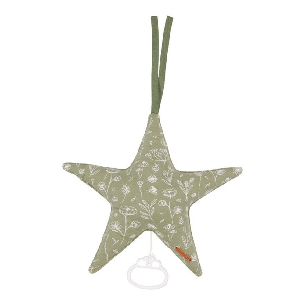 Spieluhr Stern Wild Flowers Olive