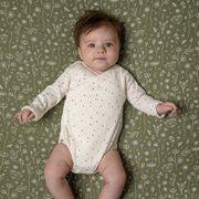 Drap-housse lit bébé Wild Flowers Olive