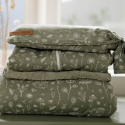 Picture of Hot-water bottle cover Wild Flowers Olive