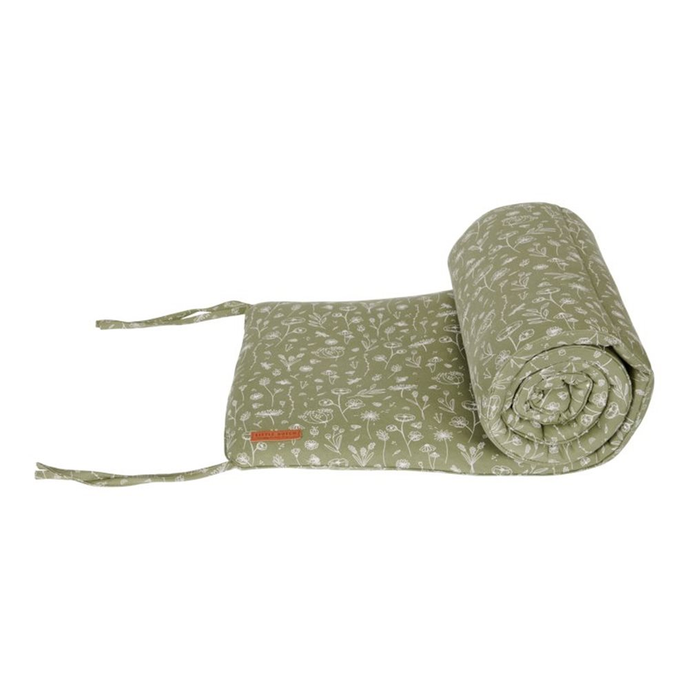 Picture of Cot bumper Wild Flowers Olive