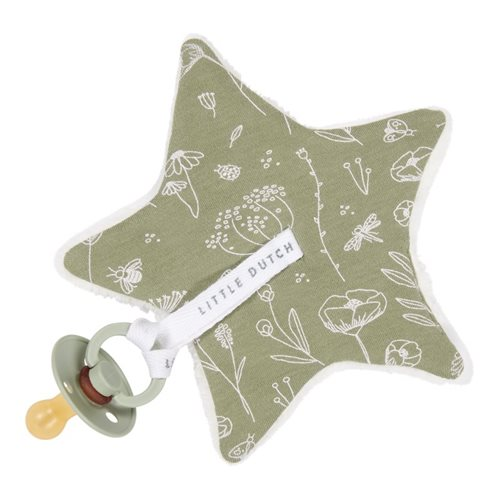 Picture of Pacifier cloth Wild Flowers Olive