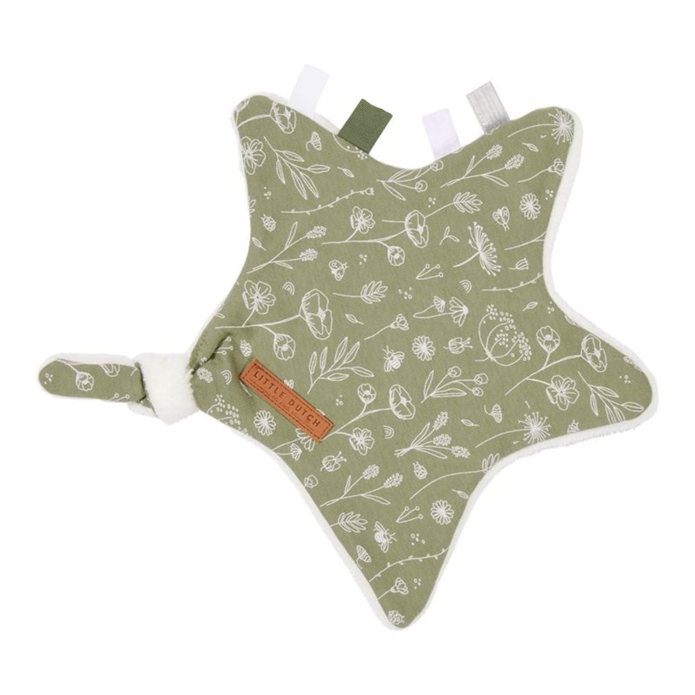 Picture of Cuddle cloth, star Wild Flowers Olive