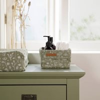 Picture of Storage basket, small Wild Flowers Olive